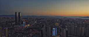 Panorama of Kunming,Kunming,Yunnan,Chinaの写真素材 [FYI02741885]
