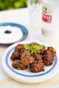 Sweden, Skane, Hoganas, Greek tomato ballsの写真素材 [FYI02742151]