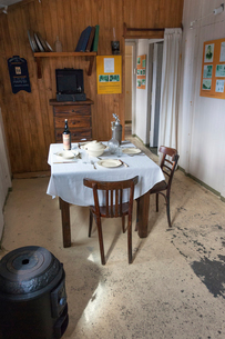 The interior of the scientific research station at Camp Livingston on the South Shetlands Islands. Aの写真素材 [FYI02742165]