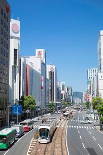 胡町電停付近より相生通りと広島市街の写真素材 [FYI02742785]