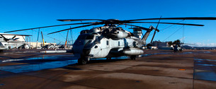 A CH-53E Super Stallion sits on the flight line.の写真素材 [FYI02742894]