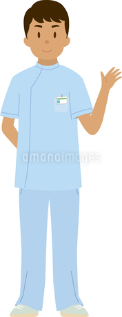 東南アジア系の男性看護師のイラスト素材 [FYI02743256]