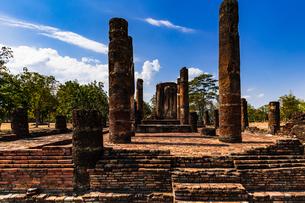 タイ  スコータイ 古代遺跡の写真素材 [FYI02744822]