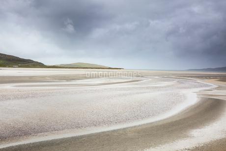 Tranquil sandy beach, Luskentyre Beach, Harris, Outer Hebridesの写真素材 [FYI02750374]