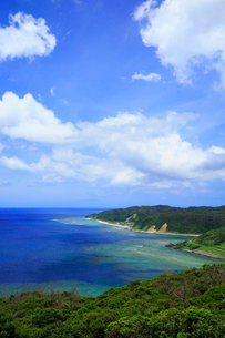 奄美大島 蒲生崎観光公園から望む笠利崎と東シナ海の写真素材 [FYI02751661]