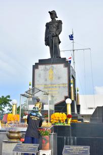 ウドムサーク海軍提督銅像の写真素材 [FYI02753577]