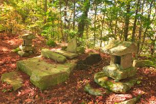 女神岳山頂の女神岳神社の写真素材 [FYI02756064]