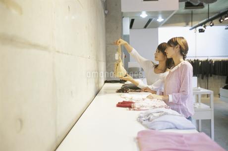 ショッピングをする2人の女性の写真素材 [FYI02813053]