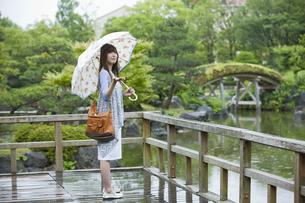 傘をさす女性の写真素材 [FYI02813054]