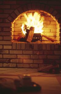 暖炉の写真素材 [FYI02813695]