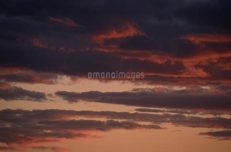 夕焼け 雲の写真素材 [FYI02814751]