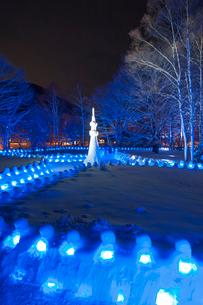 雪祭りライトアップの写真素材 [FYI02816292]