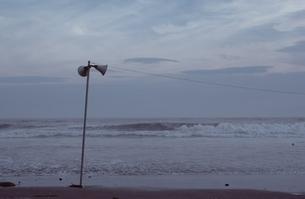 海とスピーカーの写真素材 [FYI02816419]