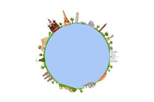 世界遺産と地球イメージの写真素材 [FYI02817652]