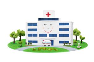 病院と救急車の写真素材 [FYI02818129]