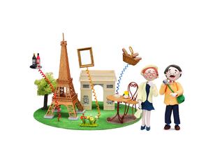 フランス パリ 観光地とご当地名産と老夫婦の写真素材 [FYI02818206]