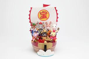 兔の七福神と宝船の写真素材 [FYI02818294]