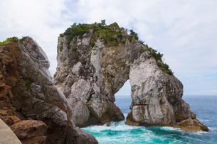 白崎海岸の奇岩の写真素材 [FYI02819724]