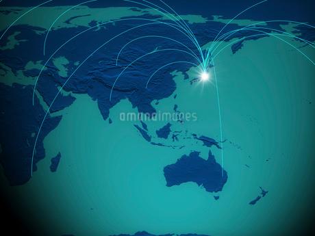 地球とネットワークの写真素材 [FYI02821021]