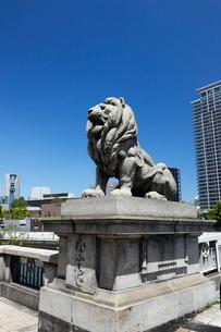 難波橋の獅子像の写真素材 [FYI02821665]
