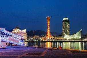 神戸港の夜景の写真素材 [FYI02821671]