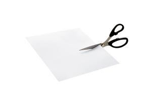 紙とはさみの写真素材 [FYI02821800]