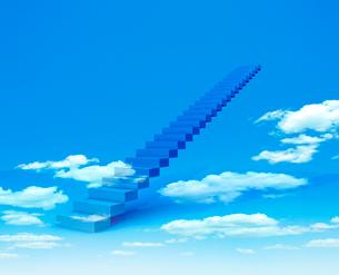 空と階段の写真素材 [FYI02821977]