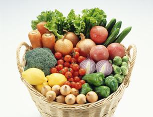 カゴの中の野菜の写真素材 [FYI02822021]