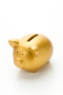 ゴールドの豚の貯金箱の写真素材 [FYI02822164]