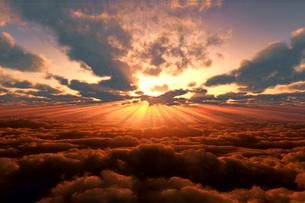 日の出と雲海のイラスト素材 [FYI02823563]