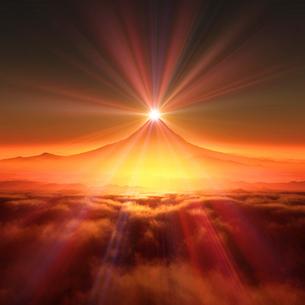 富士山の日の出の写真素材 [FYI02823638]