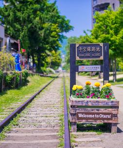 小樽市街点景 (旧手宮線跡)の写真素材 [FYI02824325]