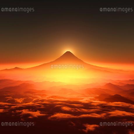 富士山の日の出のイラスト素材 [FYI02824449]
