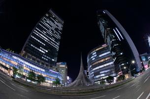 名古屋駅前の夜景の写真素材 [FYI02824833]