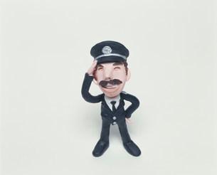 制服の男性のクラフトの写真素材 [FYI02824960]