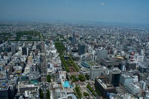名古屋市内空撮 栄 テレビ塔 オアシス21の写真素材 [FYI02825149]