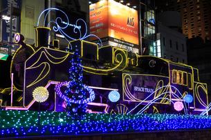 新橋駅前 SL広場のイルミネーションの写真素材 [FYI02825307]