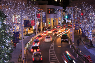 けやき坂通りのクリスマスイルミネーションの写真素材 [FYI02825583]