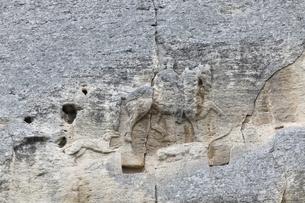 Madara Horseman, bas-relief, Madara, Bulgariaの写真素材 [FYI02825773]