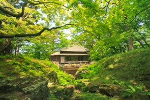 見晴公園の園亭(旧岩船氏庭園)の写真素材 [FYI02826058]