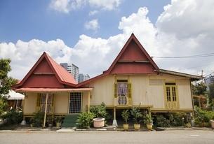 village, traditional house, Kampung Morten, Malacca, Malaysiaの写真素材 [FYI02826112]