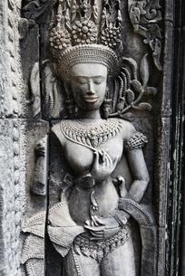 チャウサイデボーダ寺院のレリーフの写真素材 [FYI02826448]