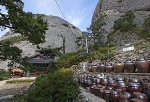 kimchi pots, Eunsusa Temple, Maisan Provincial Parkの写真素材 [FYI02826565]