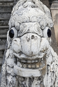 stairs railing, sculpture, mythical animal, Tomb of Khai Dinhの写真素材 [FYI02826566]