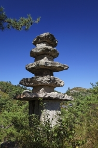 five-tier pagoda, Unjusa Temple, Jeollanam-do, Koreaの写真素材 [FYI02826682]