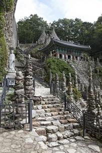 Stone Pagodas, Tapsa Temple, Maisan Provincial Parkの写真素材 [FYI02826717]