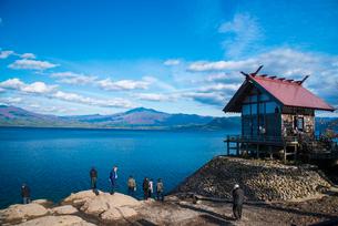 田沢湖湖畔漢槎宮の写真素材 [FYI02826728]