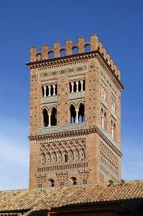 Torre de El Salvador, bell tower, Teruel, Aragon, Spainの写真素材 [FYI02826857]