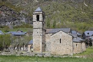 Sant Feliu Church, Barruera, Vall de Boi, Cataloniaの写真素材 [FYI02826883]