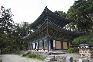 Daeungbojeon Hall, Magoksa Temple, near Gongju, Koreaの写真素材 [FYI02826902]